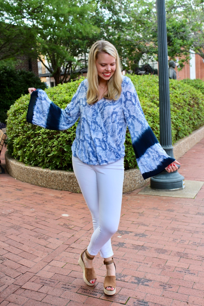 Blue and Bell Sleeves